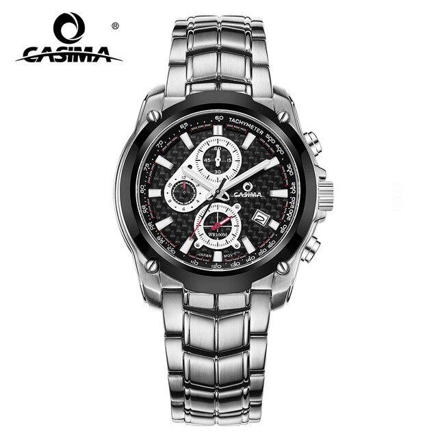 CASIMA Mens Chronograp Sport Watch Fashion 100M Waterproof Diver Military Quartz Wrist Watch Clock Men saat Relogio Masculino