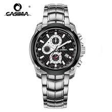 CASIMA erkek Chronograp spor izle moda 100M su geçirmez dalgıç askeri kuvars kol saati saat erkekler saat Relogio Masculino