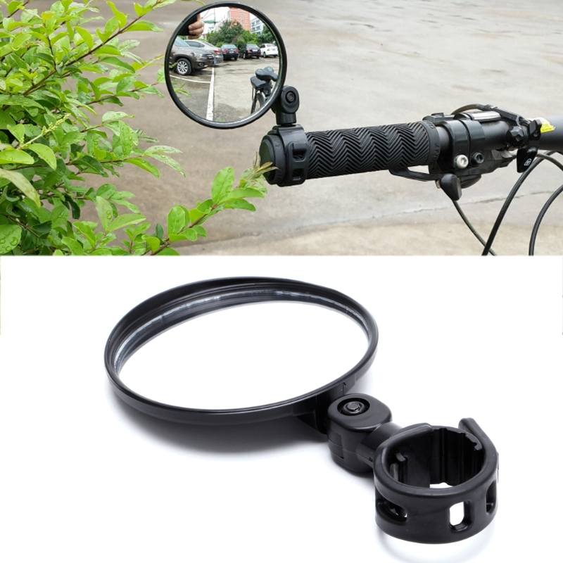 1Pc Cycling Bike Bicycle Handlebar Flexible Safe Rearview Rear View Mirror 360 Degree New flexible bicycle helmet rearview mirror black