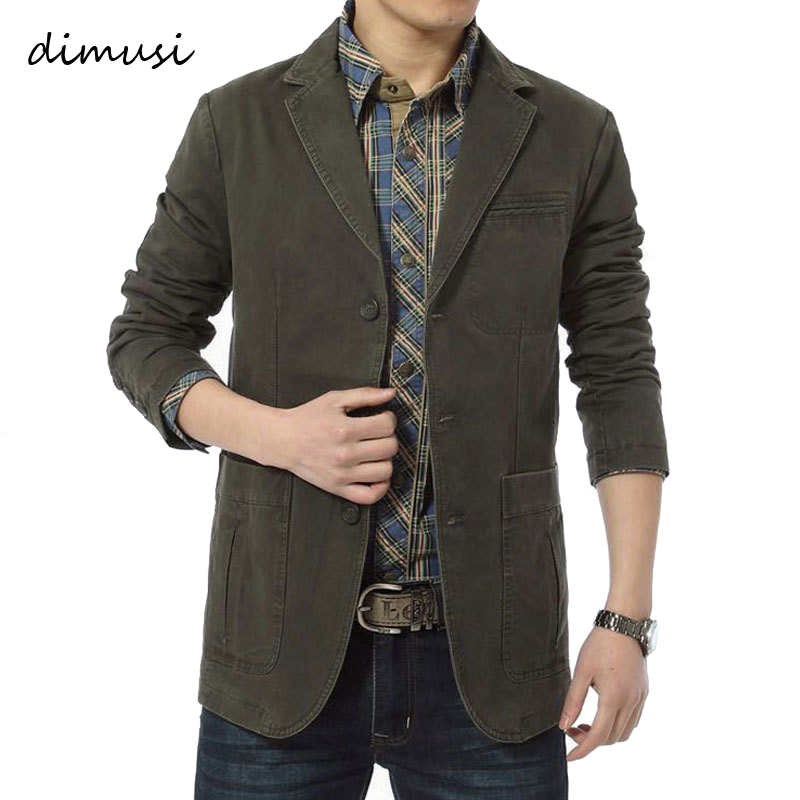 DIMUSI Spring Autumn Men's Jacket Army Baseball Uniform Slim Coats Mens Casual Blazers Cotton Denim Jackets Brand Clothing,TA306