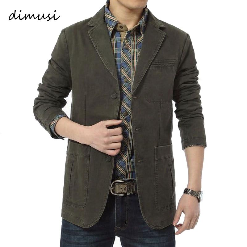 DIMUSI Spring Autumn Men's Jacket Army Baseball Uniform Slim Coats Mens Casual Blazers Cotton Denim Jackets Brand Clothing,TA306