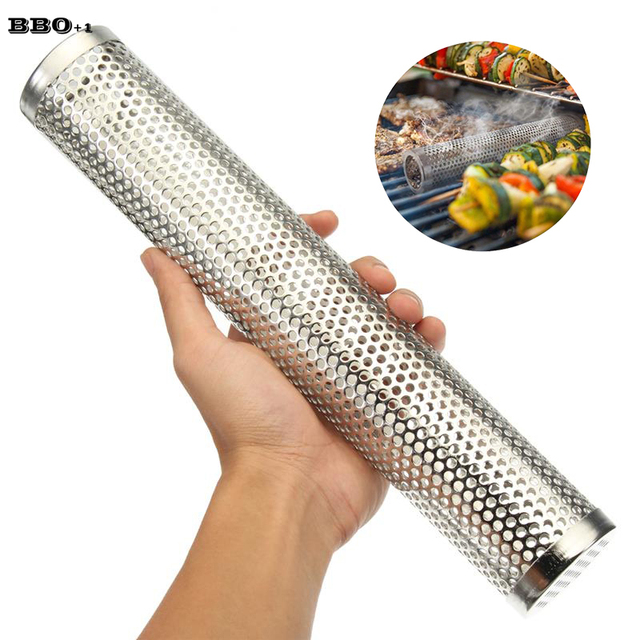 BBQ Pellet Smoker Tube Stainless Steel Cold Smoke Generator BBQ Accessories For Grill Bacon Cold Smoking Meat Fish Salmon