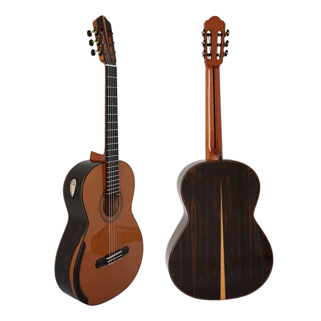 Aiersi Yulong Guo Nomex Double Top Concert Classical Guitar with Ziricote Back and Side GC03