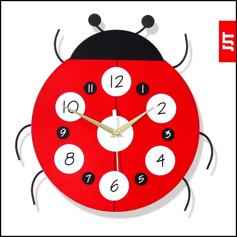 Creative 31cm beetle diy diy gift living room bedroom for Kids room clock
