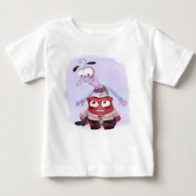 Summer hot sale Children Clothing T Shirt Inside Out Lovely Boy Girl Clothes T-Shirt Cartoon Childrens clothing fear anger MJ