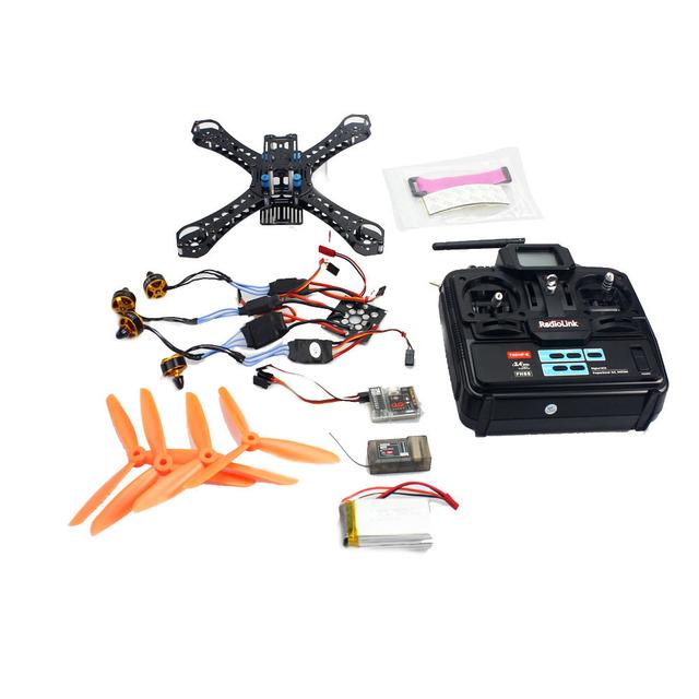 F14889-B Mini 250 RC Extranjero En FPV Quadcopter DIY + QQ súper 2400KV Motor + $ NUMBER CANALES A Distancia de Control de Vuelo + ESC 12A 1500 mAh batería