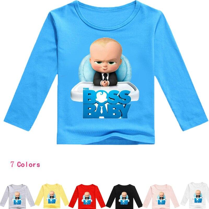 Z&Y 2-16Years Bobo Choses 2018 The Baby Boss Kids T-shirts Boys Long Sleeve Tshirt Girls ...