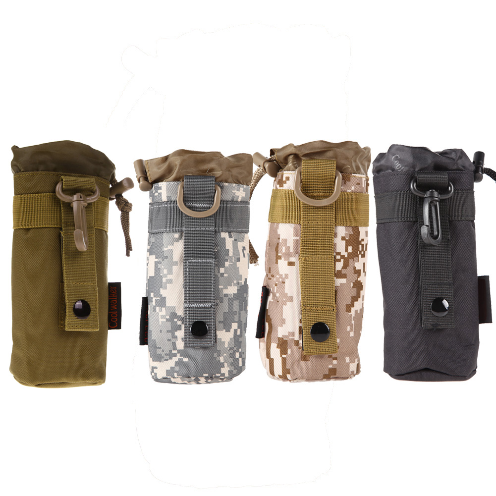 Outdoor Tactical Military Molle Vandflaskeholder Holder Kedel Taske Holder Multifunktionel Vandflaskeholder Bolsa de Agua
