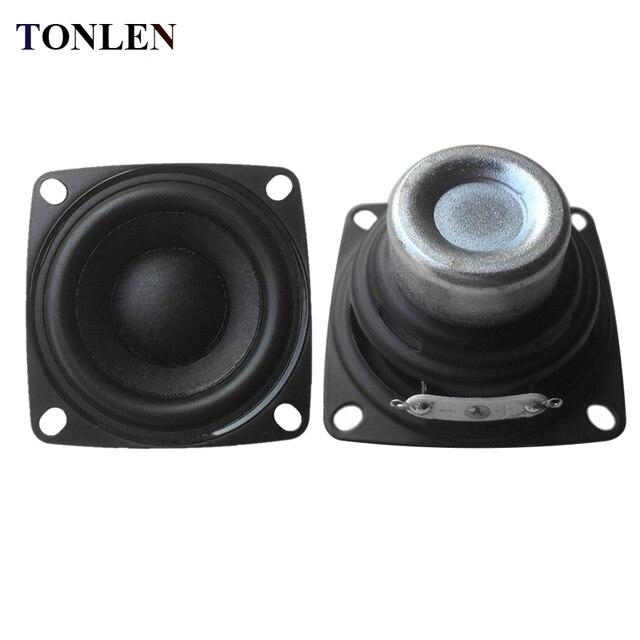 TONLEN 2PCS 2 Inch Full Range Speaker 4 Ohm 10 W Rubber Edge Horn