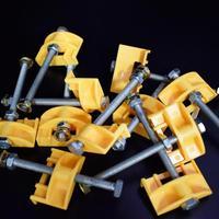 10 개/갑 타일 도구 타일 레벨러 높이 조절기 위치 나사 상승 도구