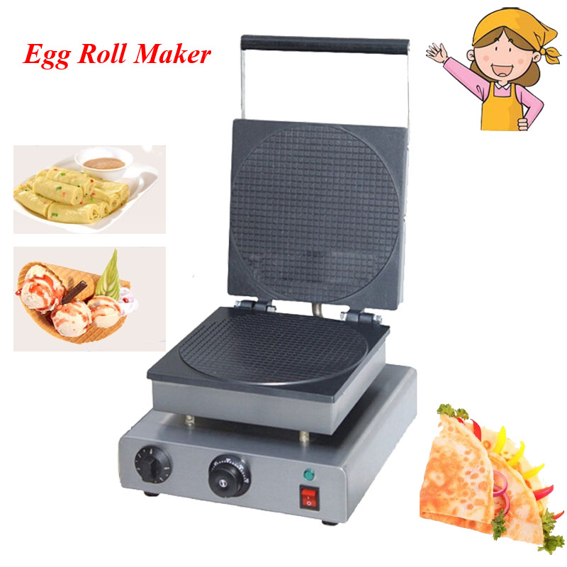 1pc Electric Waffle Maker Commercial Ice Cream Cone Machine Cone Egg Roll Maker FY-2209 chinese single round pan rolled ice cream machine fried ice cream roll machine with 6 barrels