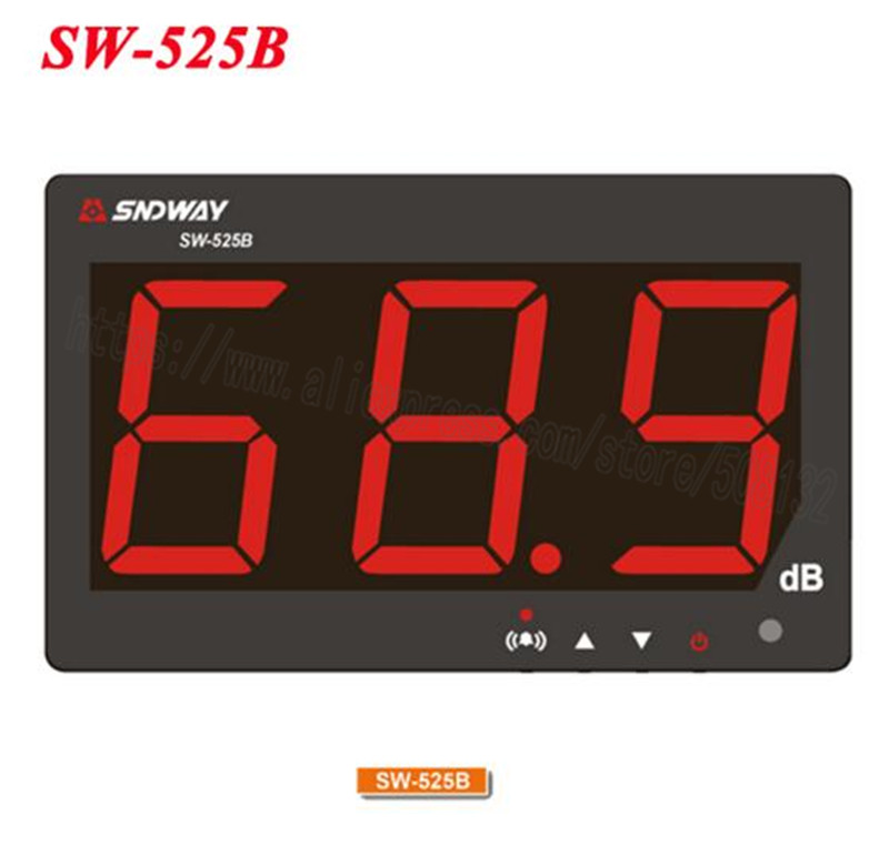 Digital Sound level meter 30 130db large screen display Restaurant Bar office home Wall hanging noise