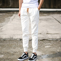 Mens White Pantalone Joggers Pants Male Sportswear Casual Khaki Skinny Long Harem Hip Hop Trousers Man Cotton Cuffed Pants M-3XL