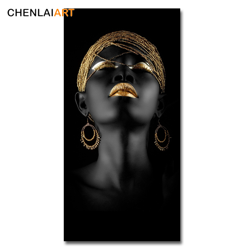 HTB1yje5KNnaK1RjSZFBq6AW7VXaq Canvas Prints Modern Black Woman Model Painting Wall Art Poster And Prints Pictures Home Decoration For Living Room No Frame