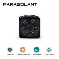 PARASOLANT Mini Camera 1080P Portable Tiny Video Recorder Cam With Night Vision Dash Cam Indoor Outdoor