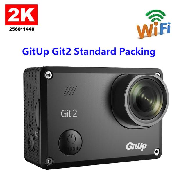 Original gitup git2 embalagem padrão wi-fi câmera de esportes 2 k 1080 p 60fps full hd para sony imx206 apoio sensor de 16mp g-sensor