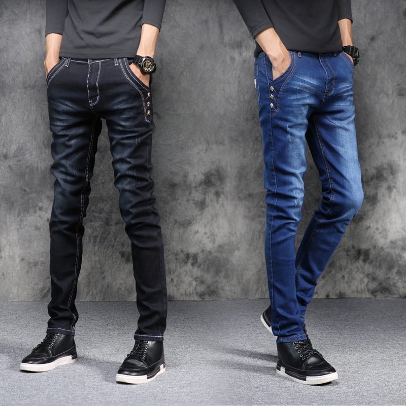 New top mens high quality full body jeans, stylish slim straight jeans mens casual fashion quality stretch tight mens jeans