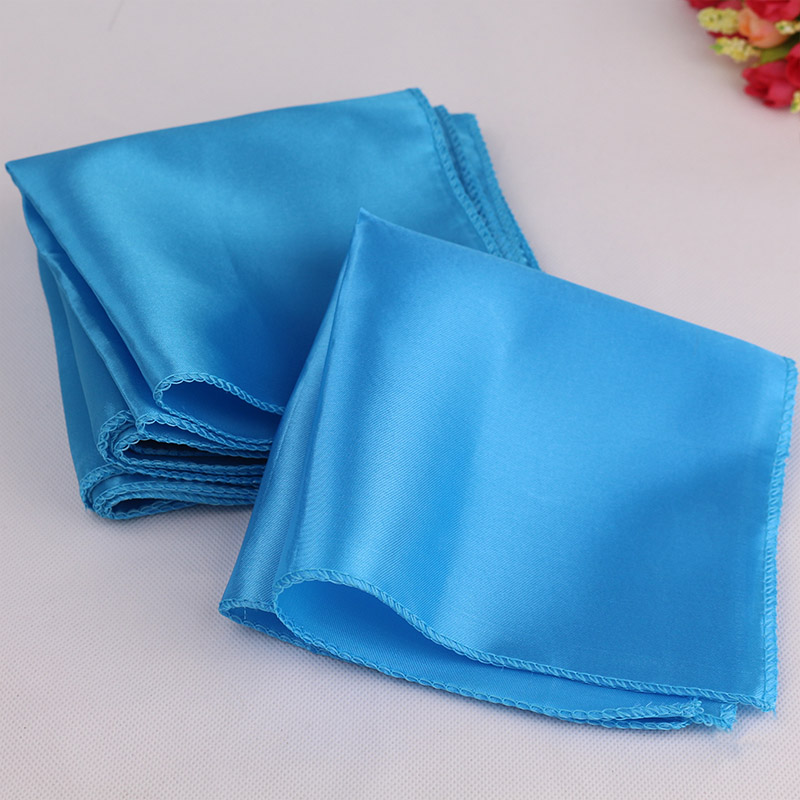 100pcs lot 30cm x 30cm aqua blue square satin napkin diner