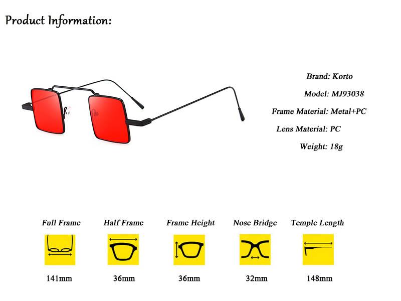 07c56ef71a931 90 s Óculos De Sol Quadrado Pequeno Retro Steampunk 80 s Engraçado ...