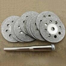 12 Pcs Utensile Rotante Circolare Seghe Lame da Taglio Dischi Mandrino per Dremel Cut Off 10 Circolare Seghe Lame E 2 mandrino