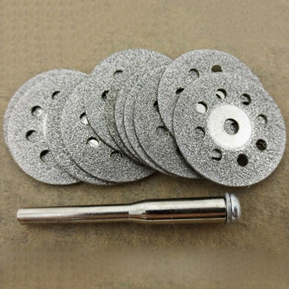 12pcs Rotary Tool Circular Saw Blades Cutting Discs Mandrel For Dremel Cut Off 10 Circular Saw Blades And 2 Mandrel