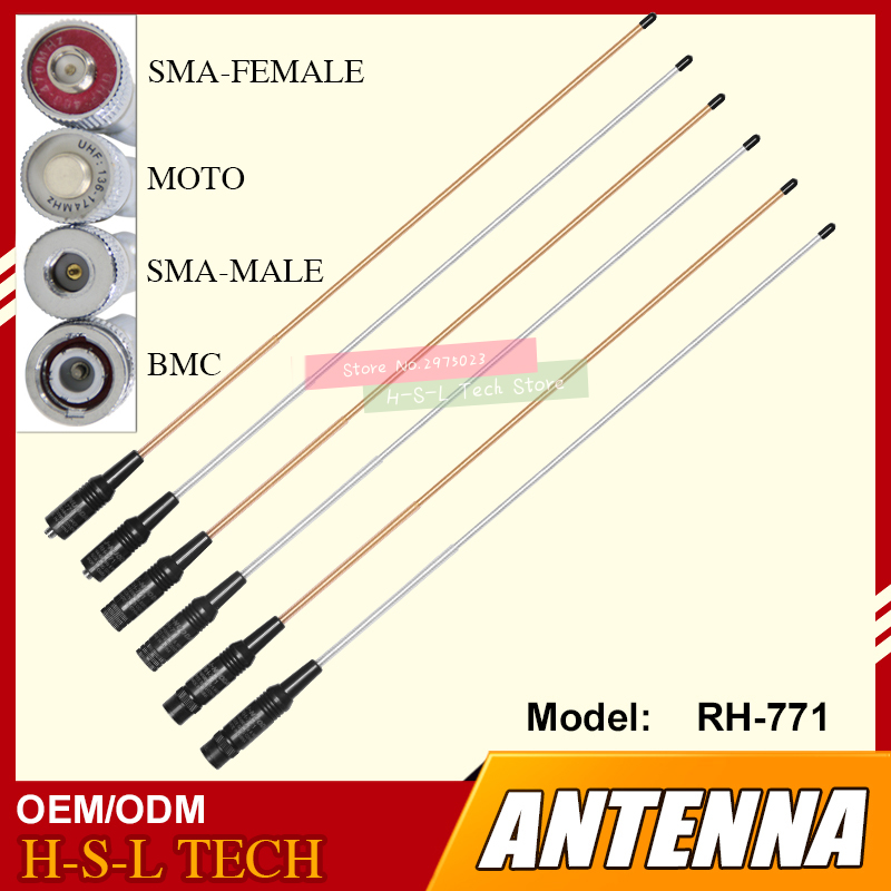 Loading Strong Signal SMA/BNC 144/430MHz Dual Band Walkie Talkie Antenna High Gain Portable Dual Band Radio Antenna For Baofeng