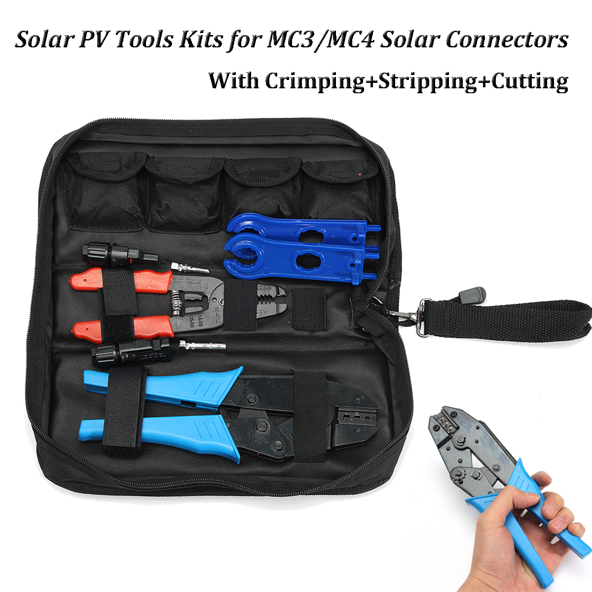 цена на 6pc/set Solar PV Kit Tools For MC3/MC4 Solar Panel Multitool Crimping Tools 26-10AWG 2.5-6mm2 Wire Crimper Wire Connector Cut