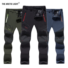 THE ARCTIC LIGHT Men's Winter Warm Outdoor Hiking Pants Camping Trip Climbing Sport Ski Trousers Waterproof Fleece Soft shell недорго, оригинальная цена