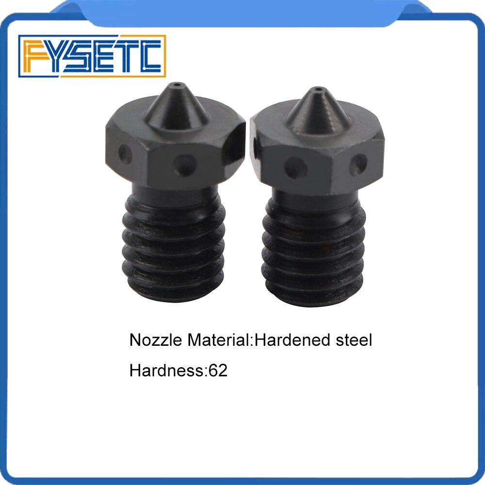 5pcs Nozzle Hardened Steel V6 Nozzles For High Temperature 3D Printing PEI PEEK Carbon Fiber Filament For E3D Titan Aero Hotend