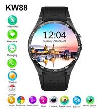2016 heißer Verkauf KW88 Smart uhr Android 5.1 MTK6580 CPU 1,39 zoll 3G Wifi Smartwatch für Samsung Huawei Telefon Uhr PK GT88 KW18