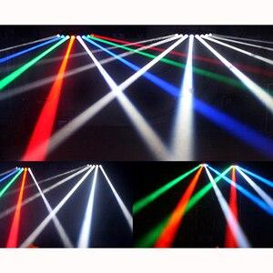 Image 5 - Disco podium lichtbundel 8*10 W LED RGBW DMX 512 party lights club sound light professionele dj apparatuur scanner bar lichten