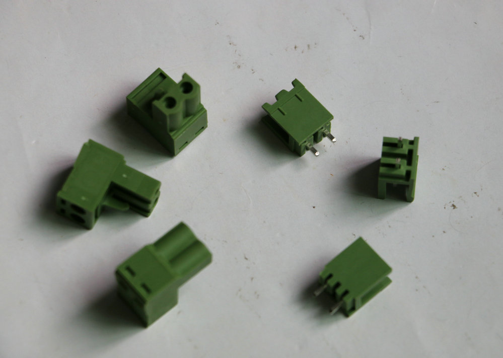 20sets Straight KF2EDG Push-pull Terminal Block Wire plug Connectors Pitch 5.08mm two 2Pins socket Female and male Green color