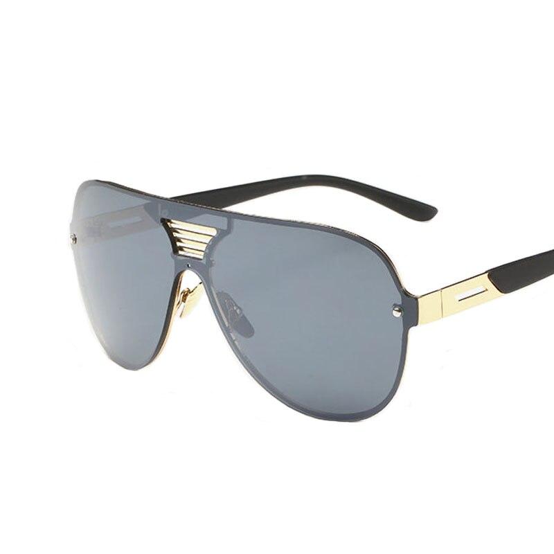 4e7c6a543 Dos homens revestimento de óculos de sol steampunk lente Siamese estilo  espelho retro óculos de sol óculos de marca de grife