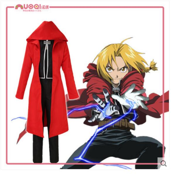 Hot Anime Fullmetal Alchemist COSPLAY Edward Elric COS Halloween Party cosplay Full set Costumes