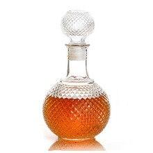 GSFY-Vaso de Whisky de Cristal de Vino Tapón de la Botella Con Tapa de Bebida Bar Decanter 500 ml