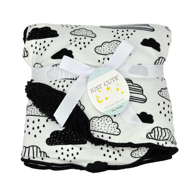 Cute Cartoon Newborn Baby Blanket Coral Fleece Baby Swaddle Super Soft Baby Wrap for Infant Baby Bedding Blanket Size 102cm76cm (16)