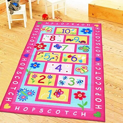 Tapis enfants Tapete rose pour filles enfants salon chambre salle de jeux tapis et tapis pour la maison salon bébé Alfombra