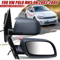 Left Right Car Door Heated Electric Wing Mirror Glass Fit For VW POLO MK5 9N 2002 2003 2004 2005