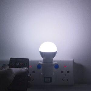 Image 5 - 1 pcs 사랑스러운 16 색 rgb 크리스마스 장식 분위기 led 밤 빛 e27 5 w 110 v 220 v led 램프 스포트 라이트 전구 + ir 원격