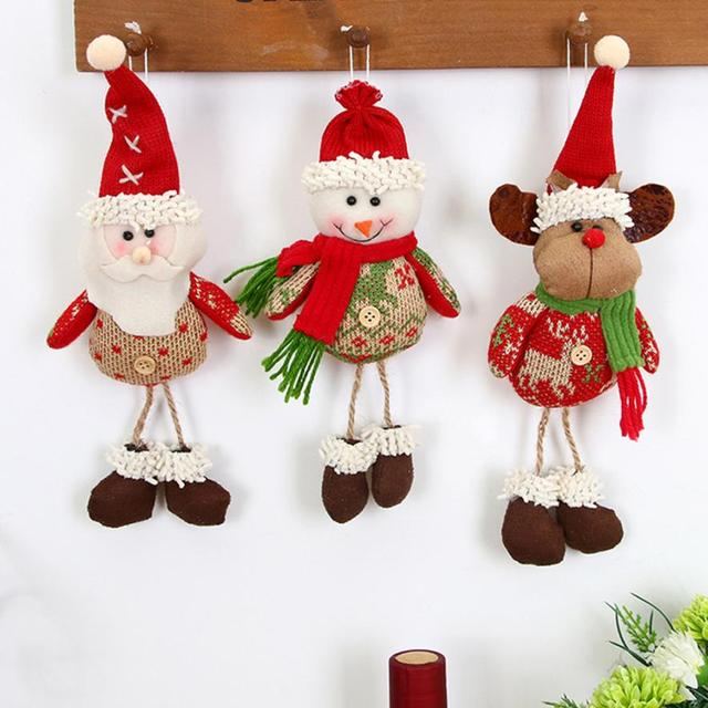 Hanging Christmas Decorations Ceiling.Us 2 0 11 Off 24cm Christmas Home Ceiling Decorations Parachute Santa Claus Smowman Christmas Hanging Pendant Christmas Decoration Supplies In