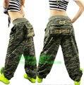 Best quality  jazz  Loose camouflage pants for women Military uniform dance  Trousers Large pocket Hip Hop Sweatpants