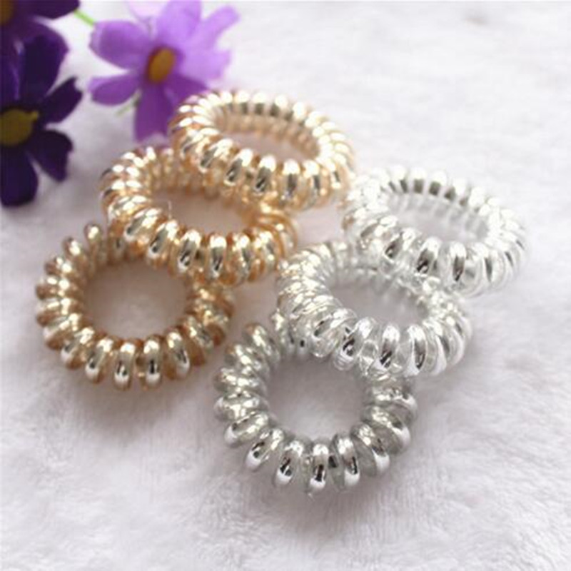 10 Pcs/lot Gum For Hair Accessories Hair Ring Rope Traceless Women Gum Elastic Hair Bands For Women Gum Telephone Wire Scrunchy Cheapest Price From Our Site Styling Tools