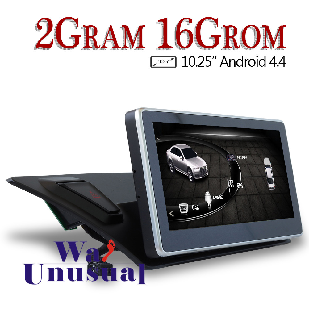 WANUSUAL 10.25Inch Quad Core 16G 2G RAM Android 6.0 GPS Navigation for Audi A4L A5 Q5 2012 2013 2014 2015 2016 2017 With BT WIFI