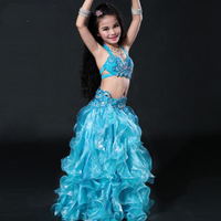 New Hand Made Children Belly Dance Costumes Kids Egyptian Bollywood Style Dancing Outfits Clothes For Girls