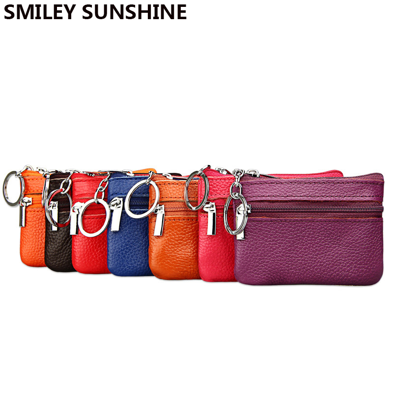 SMILEY SUNSHINE Mini Genuine Leather Wallet Small Women Coin Money Bag Short Women Leather Wallets Card Holder Wallets And Purse