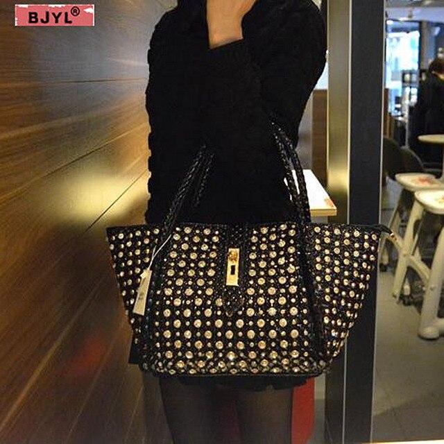 Luxury fashion diamonds Women handbags leather female dumplings shoulder slung bag rhinestone drill lock messenger crossbody bag