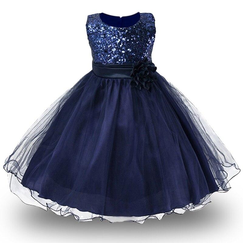 1-14yrs adolescentes vestido niñas vestido princesa de Navidad para la niña partido traje niños algodón partido ropa