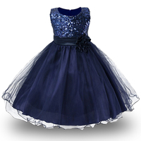 Retail 3 10Yrs Girls Dresses For Christmas Party Baby Girls Summer Party Princess Dresses Children Flower