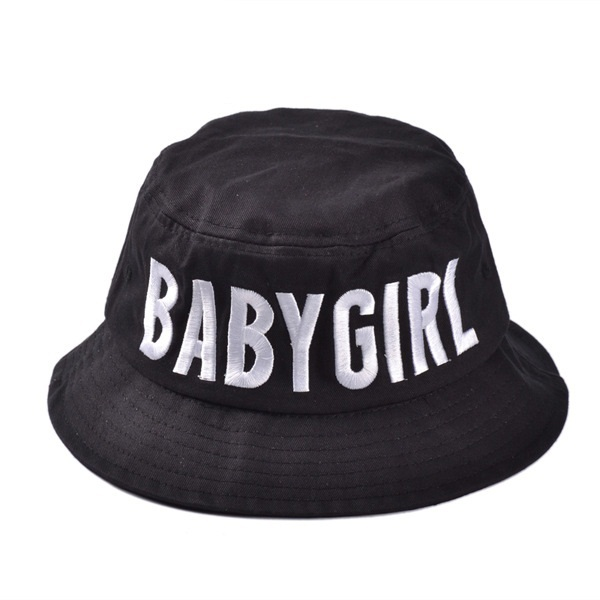 Free Shipping 2017 New Fashion Black White Color BABY GIRL Bucket Hats Caps  For Women Ladies-in Bucket Hats from Apparel Accessories on Aliexpress.com  ... d4aec77bdd9