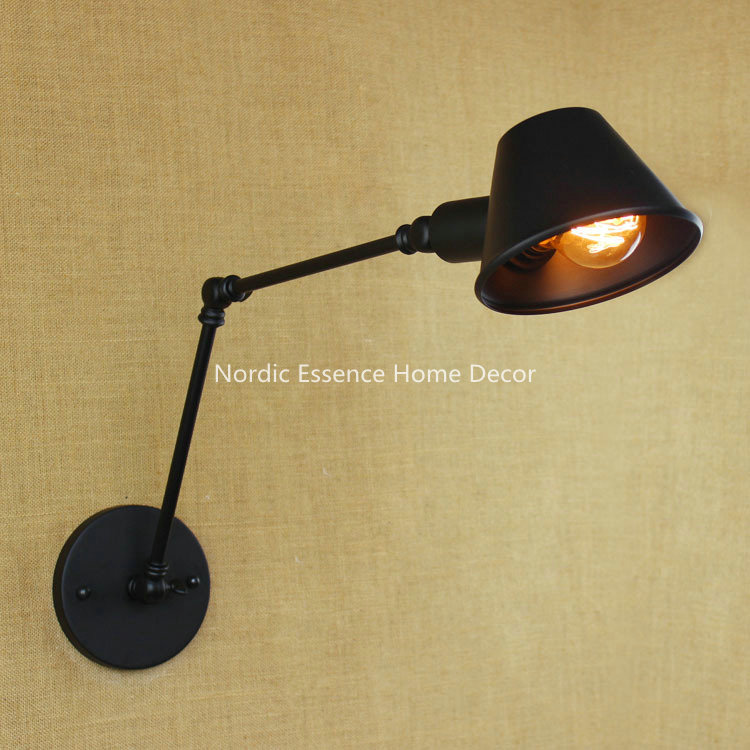 ФОТО Nordic country Industrial loft style retro creative personality minimalist decoration long arm bar cafe decorative wall sconce